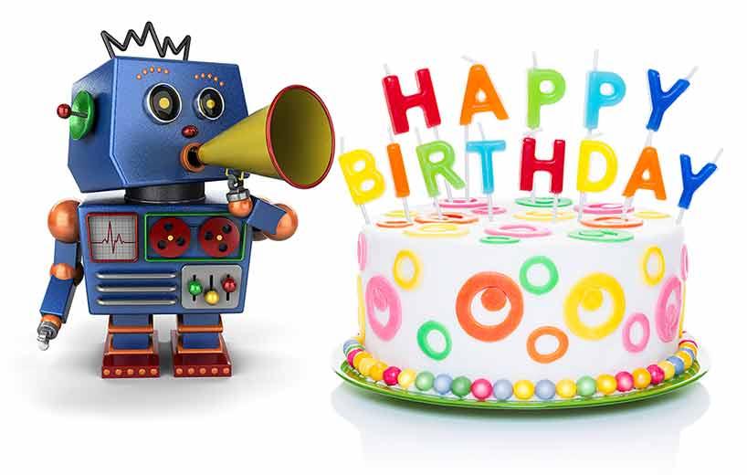 Открытка с днем рождения мальчику 5 лет робот, днем рождения